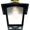 Elstead York BL6C Black Outdoor Flush Porch Lantern
